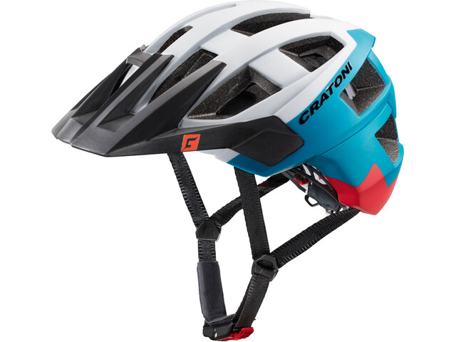 Cratoni AllSet Helmet white-blue-red matt